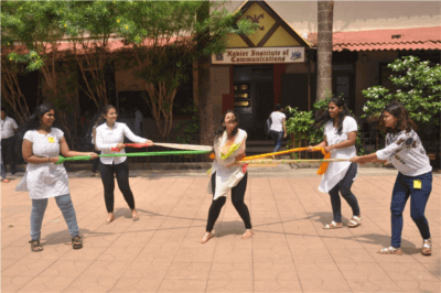 C4D students perform street play on World Peace Day